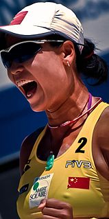 Tian Jia Chinese beach volleyball player
