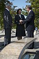 Jim Laychak gives Carl XVI Gustaf and Silvia, the King and Queen of Sweden, a tour of the Pentagon Memorial.jpg