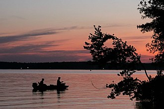 Jimmie Davis State Park - Fishing on Caney Lake Reservoir in Jimmie Davis State Park.