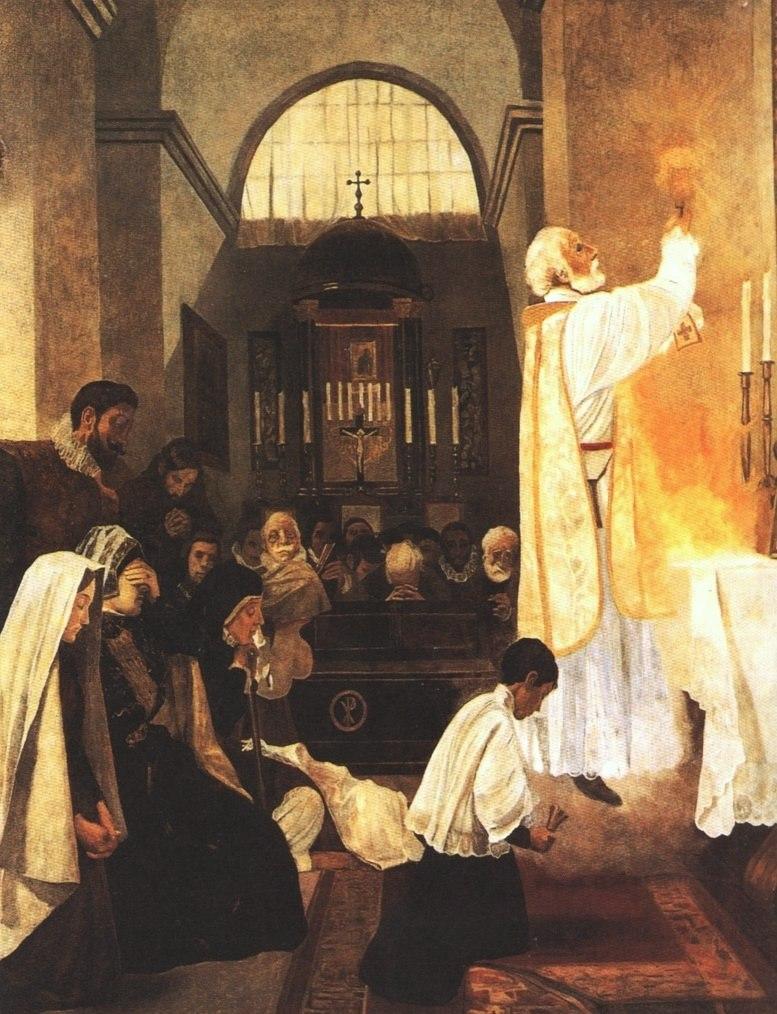 Joan Llimona - San Felipe Neri en la consagración de la Santa Misa