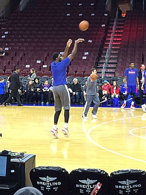 Joel Embiid - Embiid practicing with the Philadelphia 76ers in 2014