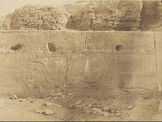 Temple of Beit el-Wali - Earliest photo, 1854 by John Beasley Greene