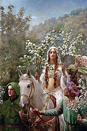 John Collier Queen Guinevre's Maying.jpg