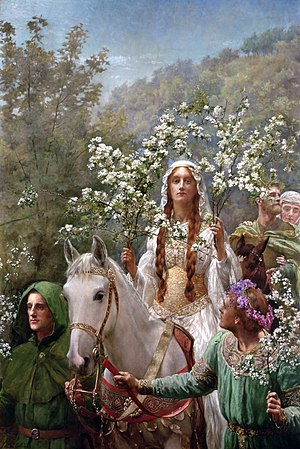 Guinevere - Queen Guinevere's Maying by John Collier (1900)