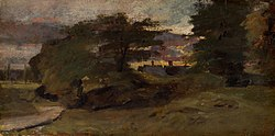 John Constable: Landscape with Cottages