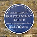 John Lubbock blue plaque at High Elms.jpg