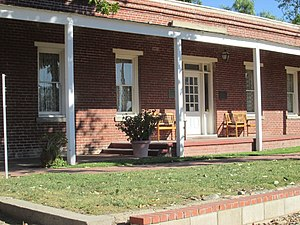 Rancho Cucamonga, California - The front of John Rains' House, a National Historic Place.