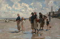 SARGENT John Singer Fishing for oysters at Cancale 1878
