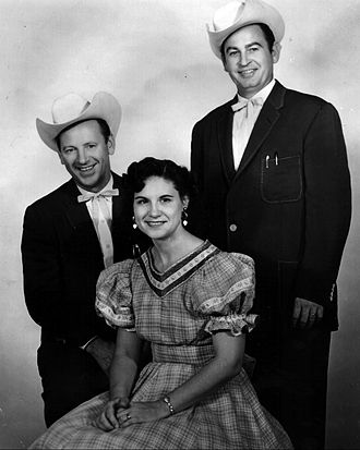 Johnnie & Jack - Johnnie (right) and Jack (left) with Kitty Wells (center)