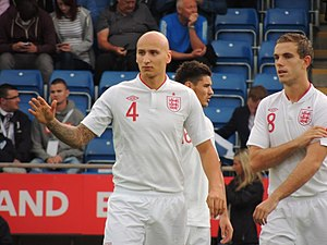 Jonjo Shelvey - Shelvey (left) playing for England U21s in 2012