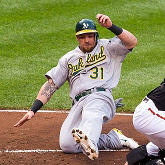 Jonny Gomes - Gomes playing for the Oakland A's in 2012
