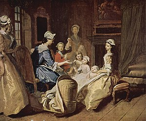 Joseph Highmore - Pamela teaching her children (1743–45)