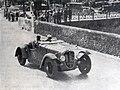 Joseph Paul, vainqueur du Critérium Paris-Nice 1937 sur Delahaye, ici à la côte de La Turbie durant la compétition.jpg