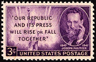 Joseph Pulitzer - Joseph Pulitzer commemorative stamp, issued in 1947
