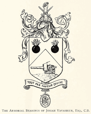 Josiah Vavasseur - The Vavasseur gun mounting was so important to Josiah Vavasseur that he included it in his coat of arms.