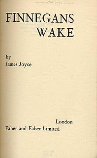 comic fiction by James Joyce