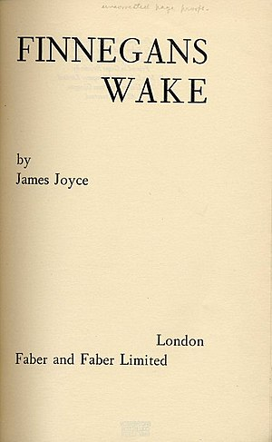 1939 in literature - Image: Joyce wake