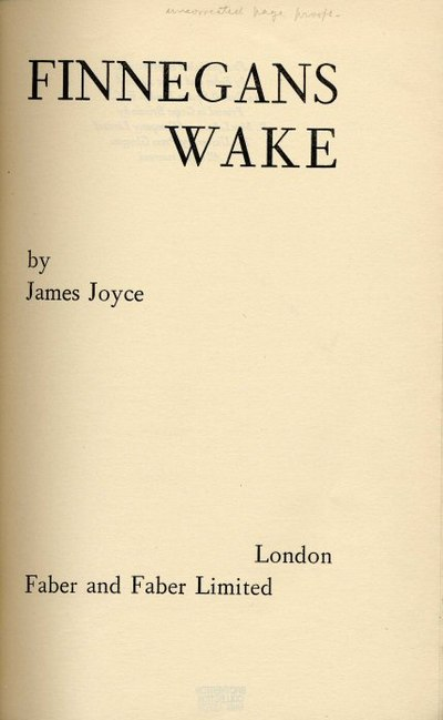 Picture of a book: Finnegans Wake