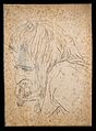 Judas Iscariot. Drawing, c. 1789, after H. Holbein. Wellcome V0009096.jpg