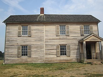 First Battle of Bull Run - Postwar house on site of Judith Henry house in Manassas