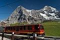 Jungfraubahn train at the Kleine Scheidegg railway station.jpg