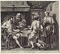 Jupiter en Mercurius in het huis van Philemon en Baucis, RP-P-OB-67.821.jpg