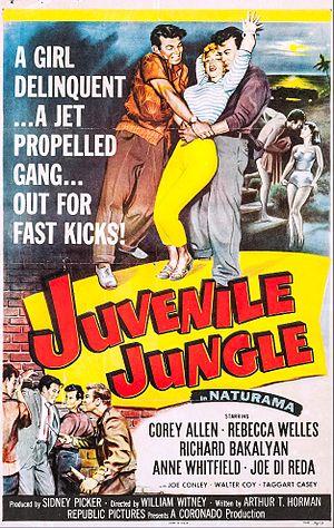 Juvenile Jungle (film) - Theatrical release poster