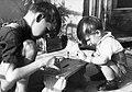 Két fiú és a kis szék, 1952. Fortepan 76403.jpg