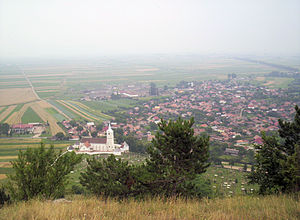 Sânzieni - The village from the peak Perkő
