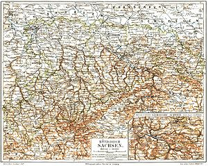 Kingdom of Saxony - The Kingdom of Saxony in 1895