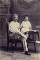 KITLV - 43211 - Kurkdjian, N.V. Photografisch Atelier O. - Soerabaja - Grandfather with grandchild, presumably in Surabaya - 1895-1910.tiff