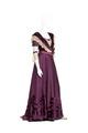 KLÄNNING Liv och kjol av rödgredelint siden, tillhört Wilhelmina von Hallwyl - Hallwylska museet - 89099.tif