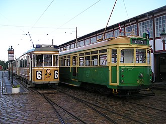W-class Melbourne tram - W6 965 at the Skjoldenæsholm Tram Museum