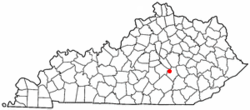 Location of Brodhead, Kentucky