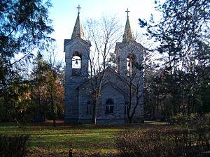 Rahumäe cemetery - Image: Kaarli koguduse kabel (Tallinn)