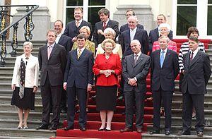 Second Balkenende cabinet - Image: Kabinet Balkenende 2