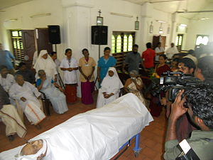 Kakkanadan - Kakkanadan's body kept at Bishop Benziger Hospital, Kollam