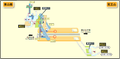 Kakuozan station map Nagoya subway's Higashiyama line 2014.png