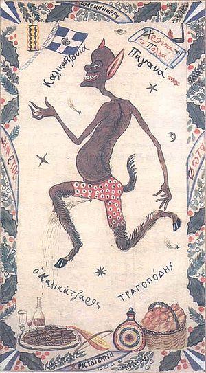 Kallikantzaros - A goat-footed kallikantzaros.