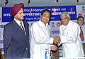 Kamal Nath and the Chief Minister of Madhya Pradesh, Shri Babu Lal Gaur at an interactive meeting on Trade and Investment Opportunities in Madhya Pradesh, in New Delhi on August 26, 2005.jpg