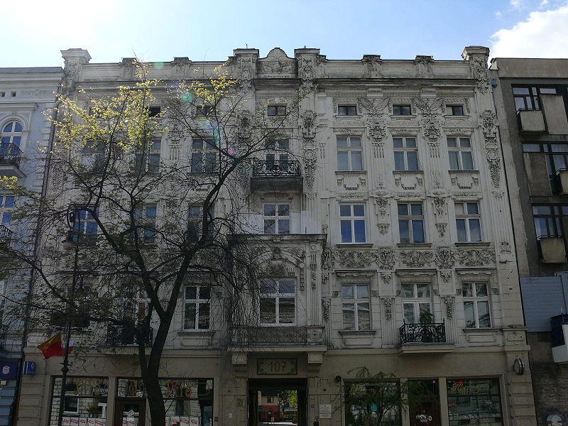 107 Piotrkowska Street in Łódź