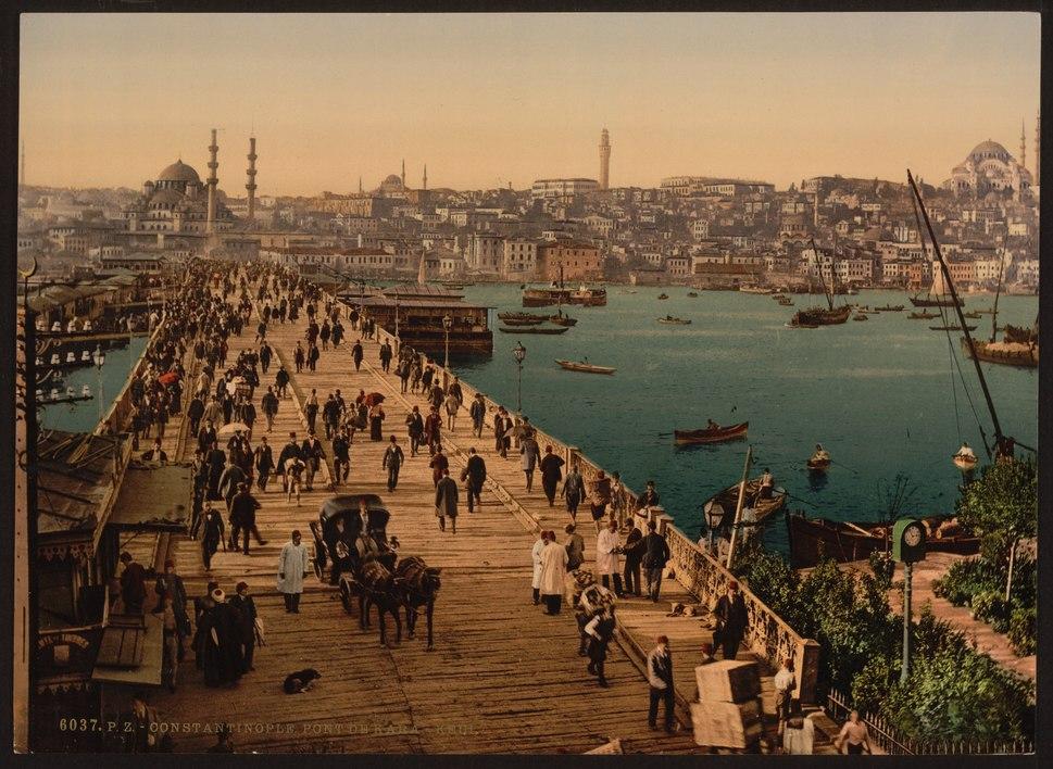 Kara-Keui (Galata) bridge, Constantinople, Turkey-LCCN2001699426