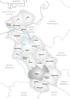 Kloten - Image: Karte Gemeinde Kloten