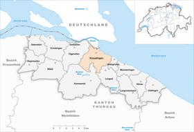 Karte Gemeinde Kreuzlingen 2011