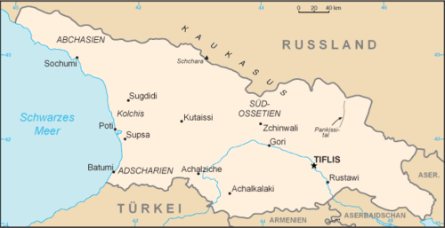 Georgien Karte.Liste Der Städte In Georgien Wikipedia