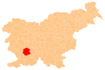 The location of the Municipality of Postojna