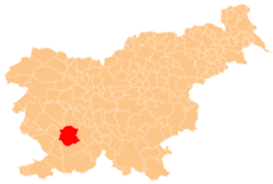 Location of the Municipality of Postojna in Slovenia