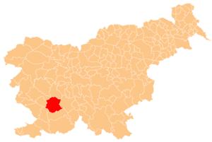Municipality of Postojna - Image: Karte Postojna si