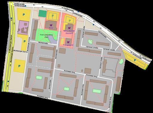 Karte vom Wohngebiet Cecilienstraße