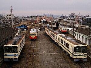 Kashima Railway Line - Railcars of Kashima Railway at Ishioka Station, January 2007